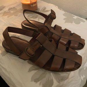 Cole Haan 90s slingback sandals coffee brown 10.5